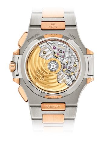 Patek Philippe Nautilus Мод. 5980/1AR-001 Нержавеющая сталь и розовое золото - ВИД СЗАДИ