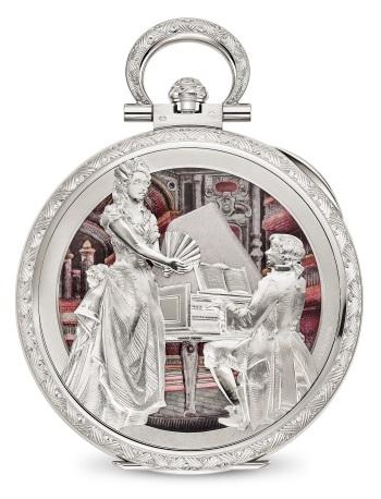 Patek Philippe Редкие ремесла Мод. 995/110G-001 Белое золото - ВИД СЗАДИ
