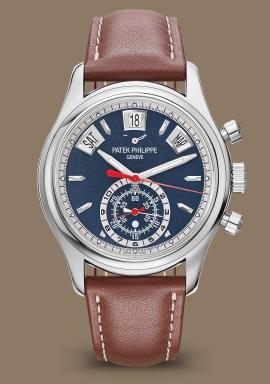 11c42494398 Patek Philippe   Complications Blue Dial Platinum Chronograph 5905P-001