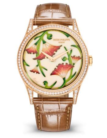 Patek Philippe Редкие ремесла Мод. 5077/100R-039 Розовое золото - ВИД СПЕРЕДИ