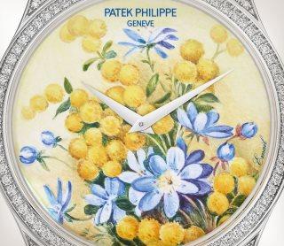Patek Philippe تحف يدوية نادرة كود 5077/100G-037 الذهب الأبيض - فني