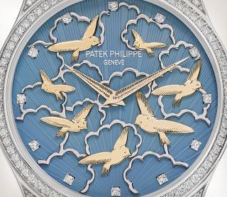 Patek Philippe تحف يدوية نادرة كود 5077/101G-010 الذهب الأبيض - فني