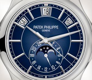 Patek Philippe التعقيدات كود 5205G-013 الذهب الأبيض - فني