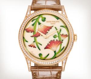 Patek Philippe تحف يدوية نادرة كود 5077/100R-039 الذهب الوردي - فني
