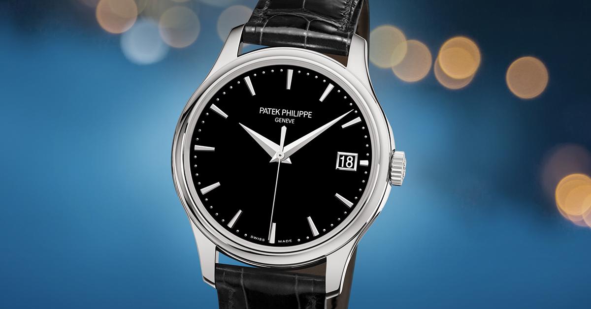 Patek Philippe Calatrava Automatic Date Black Dial Watch 5227g 010