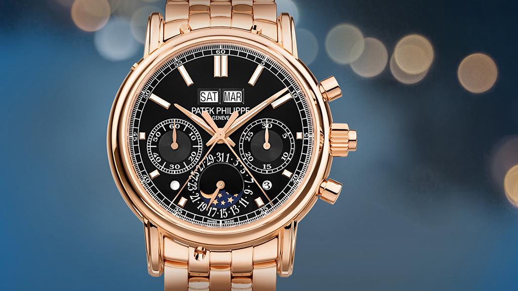 Patek Philippe | Reloj con Grandes Complicaciones Cronógrafo de oro rosa  5204/1R-001